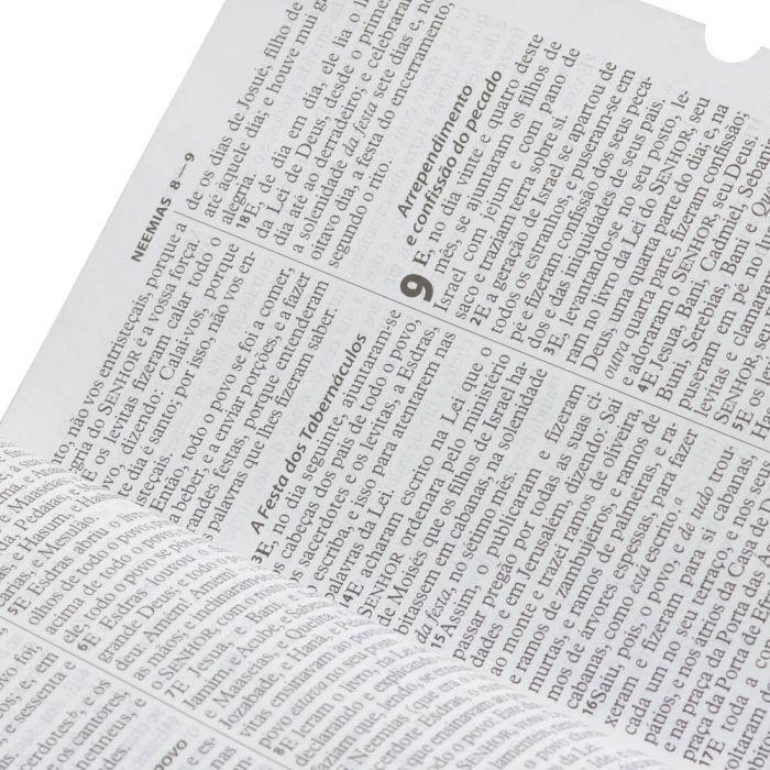 Bíblia Sagrada Letra Grande / Azul / Ziper - (ARC)  - Universo Bíblico Rs