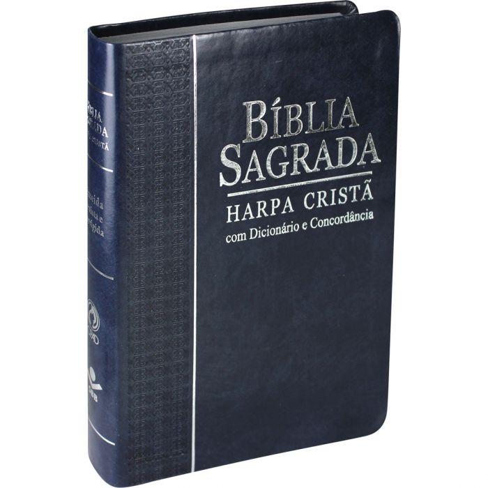 Bíblia Sagrada Letra Grande, Edição com Letras Vermelhas, Concordância, Dicionário e Harpa Cristã