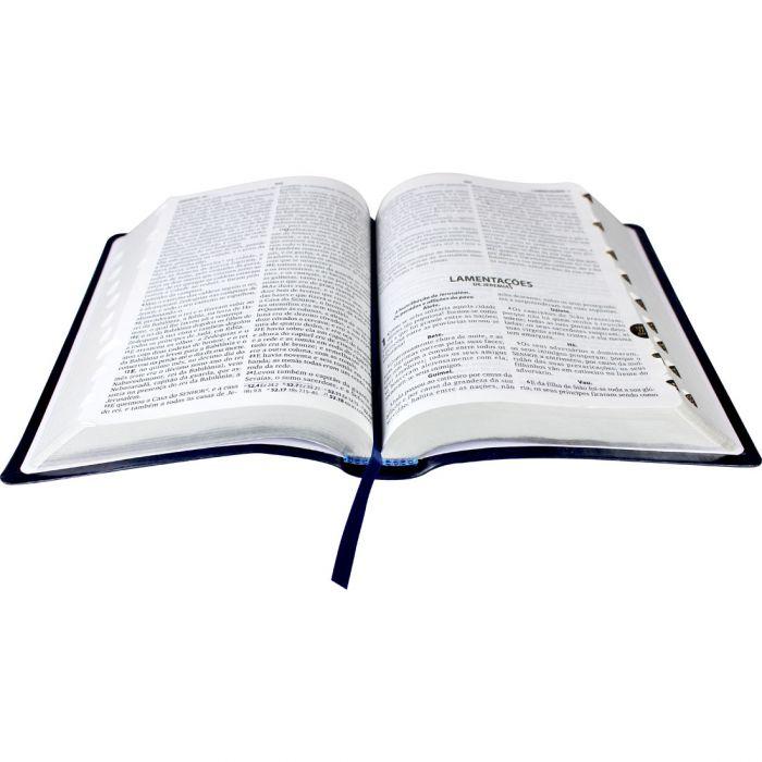 Bíblia Sagrada Letra Grande, Edição com Letras Vermelhas, Concordância, Dicionário e Harpa Cristã  - Universo Bíblico Rs