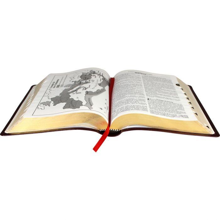 Bíblia Sagrada Letra Grande, Edição com Letras Vermelhas, Concordância, Dicionário e Harpa Cristã.  - Universo Bíblico Rs