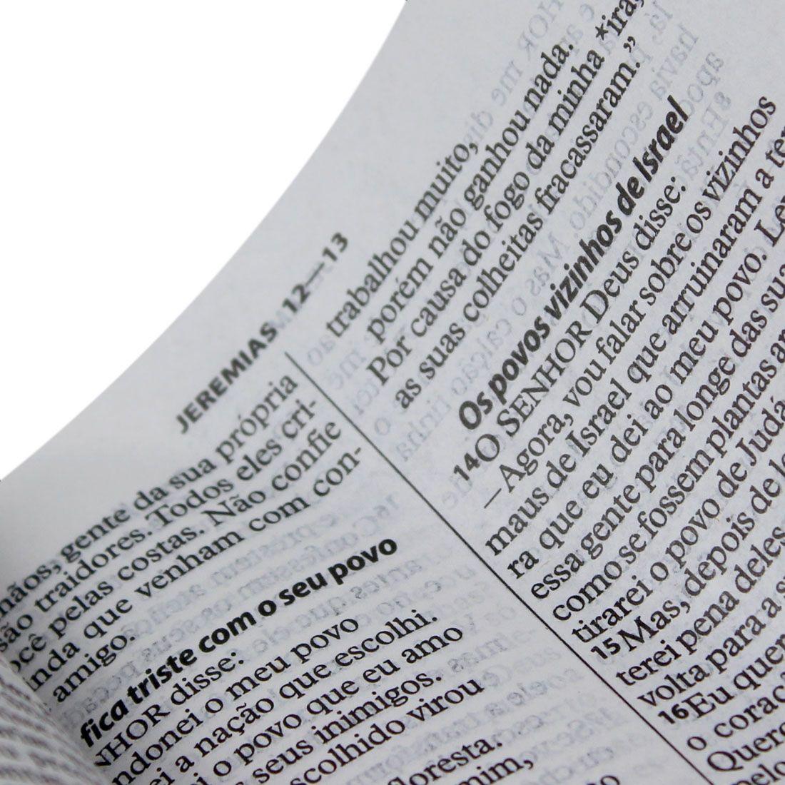 Bíblia Sagrada Letra Grande / Preta - (NTLH)  - Universo Bíblico Rs