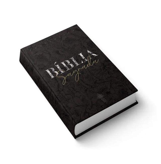 Bíblia Sagrada Ntlh Youversion Média Capa Soft Touch Flower Mix  - Universo Bíblico Rs