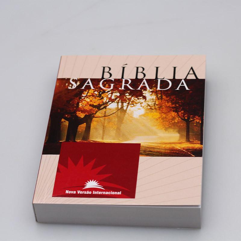 Bíblia Sagrada   NVI   Letra Média   Brochura   Estampa Unica  - Universo Bíblico Rs