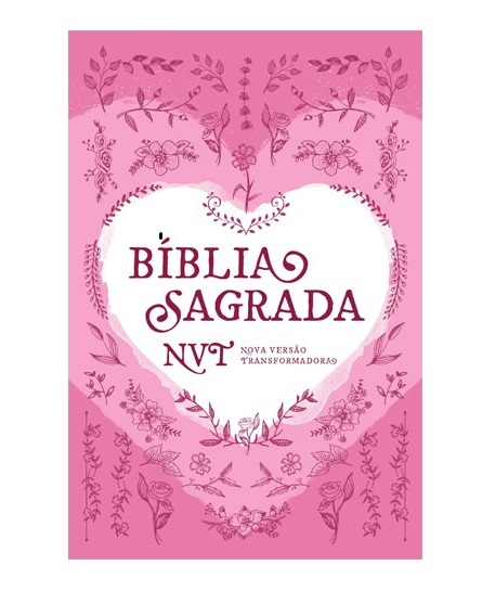 Bíblia Sagrada | NVT | Coração Rosa | Capa Dura