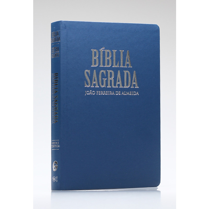 Bíblia Sagrada RC Extra-Gigante - Capa Luxo Azul  - Universo Bíblico Rs