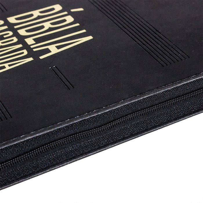 Bíblia Sagrada Slim com índice e zíper - (NAA)  - Universo Bíblico Rs