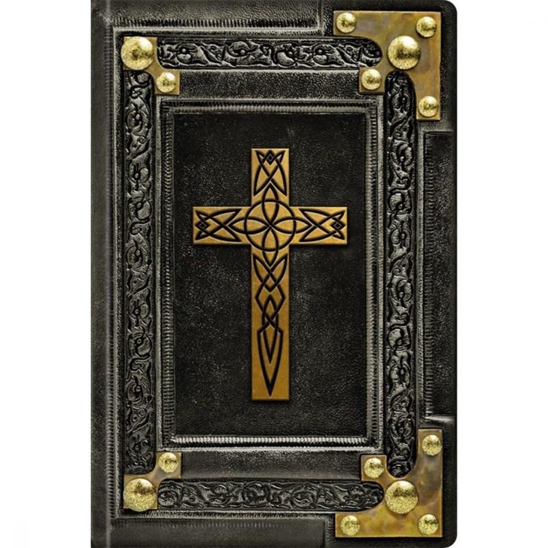 Biblia Sagrada Vintage Preta   NVI   Letra Normal   Capa Dura Soft-Touch  - Universo Bíblico Rs
