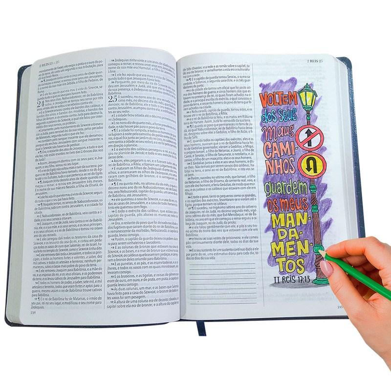 Bíblia Slim King James BKJ 1611 Lettering Bible  Floral  - Universo Bíblico Rs