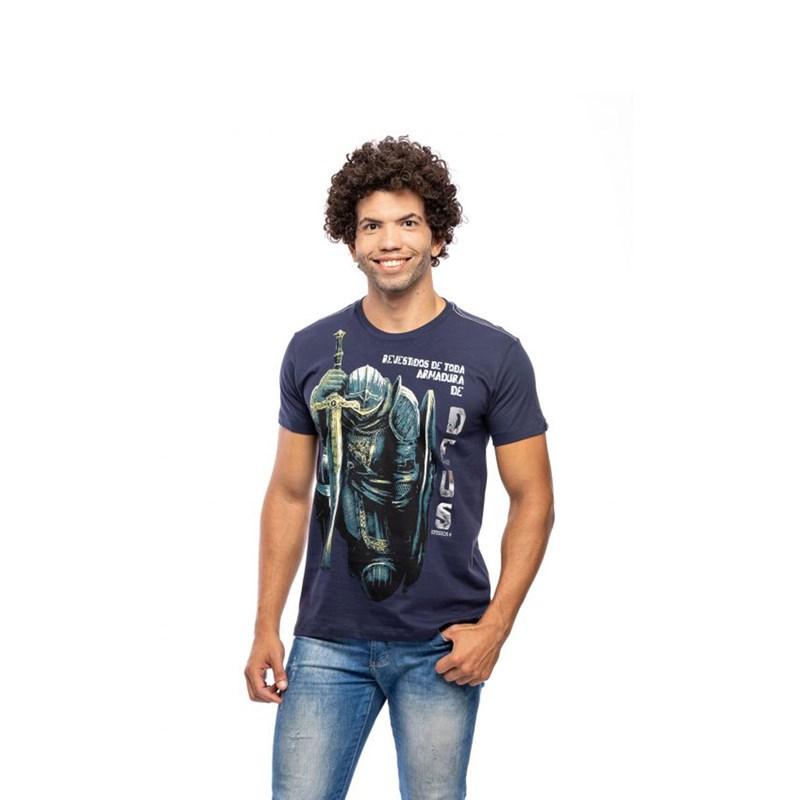 Camiseta Armadura / Azul  - Universo Bíblico Rs