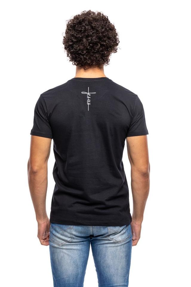 Camiseta Jesus Cruz / Preta  - Universo Bíblico Rs