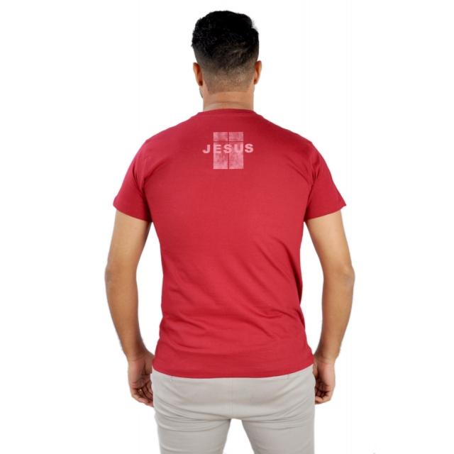 Camiseta Jesus retícula / Vermelha  - Universo Bíblico Rs