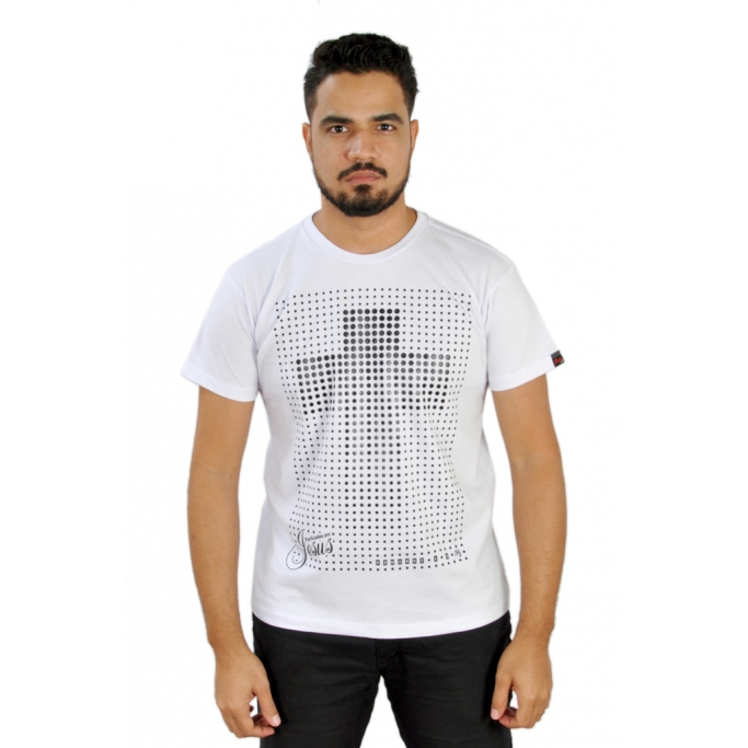 Camiseta Purificados por Jesus / Branca  - Universo Bíblico Rs