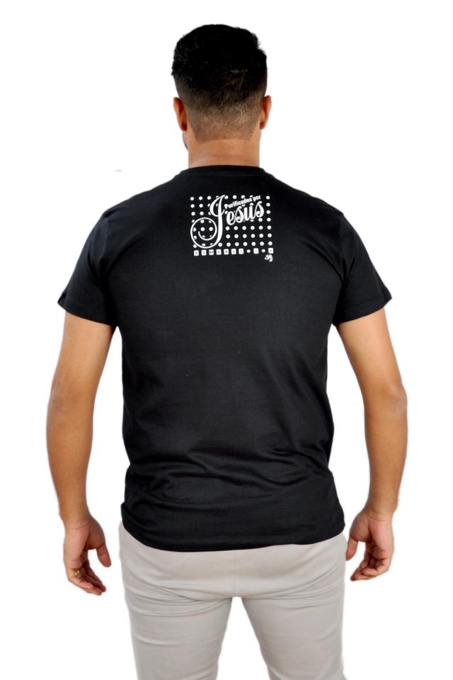 Camiseta Purificados por Jesus / Preta  - Universo Bíblico Rs