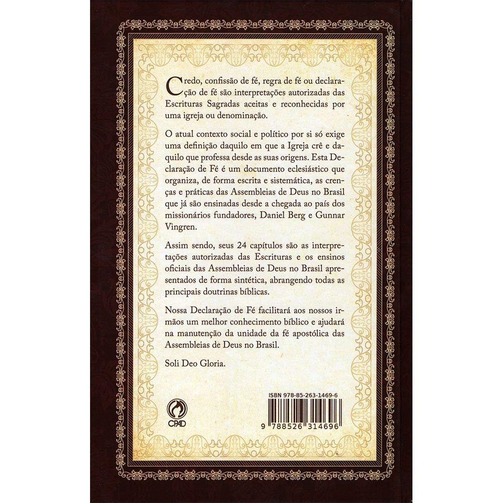 Declaração De Fé - Capa Dura  - Universo Bíblico Rs