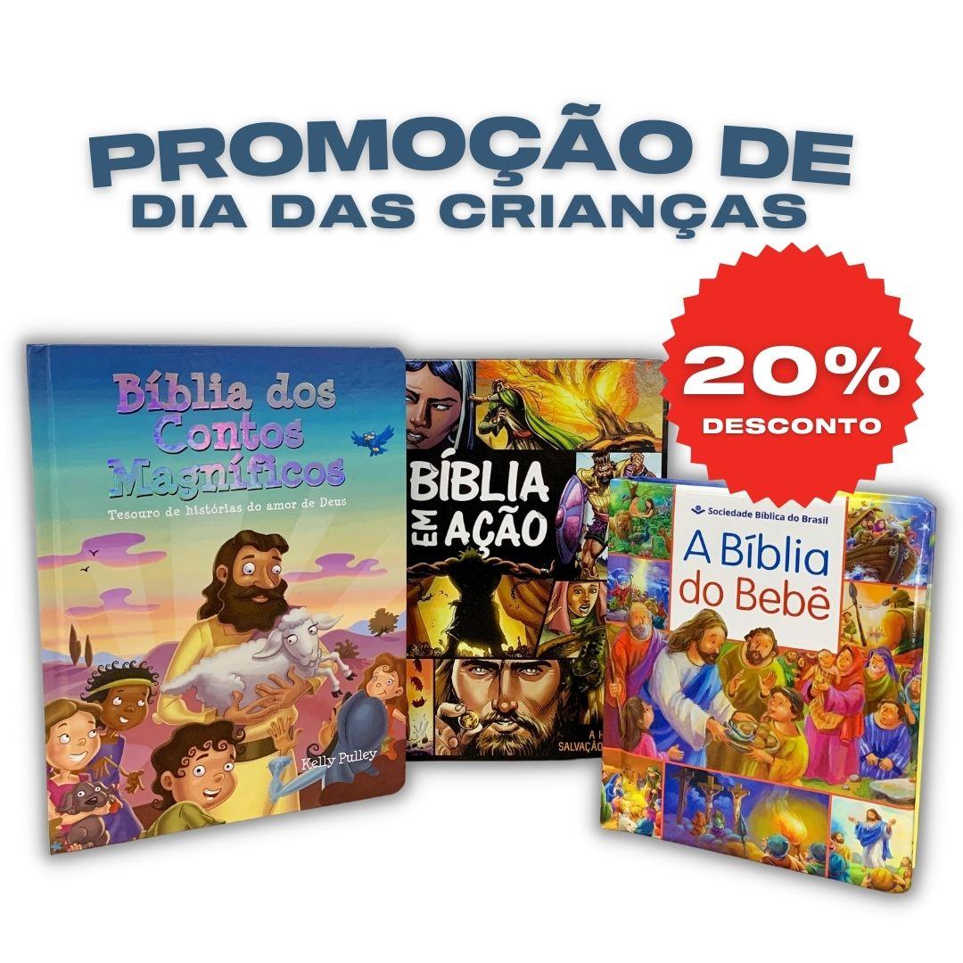 Kit 3 bíblias infantil