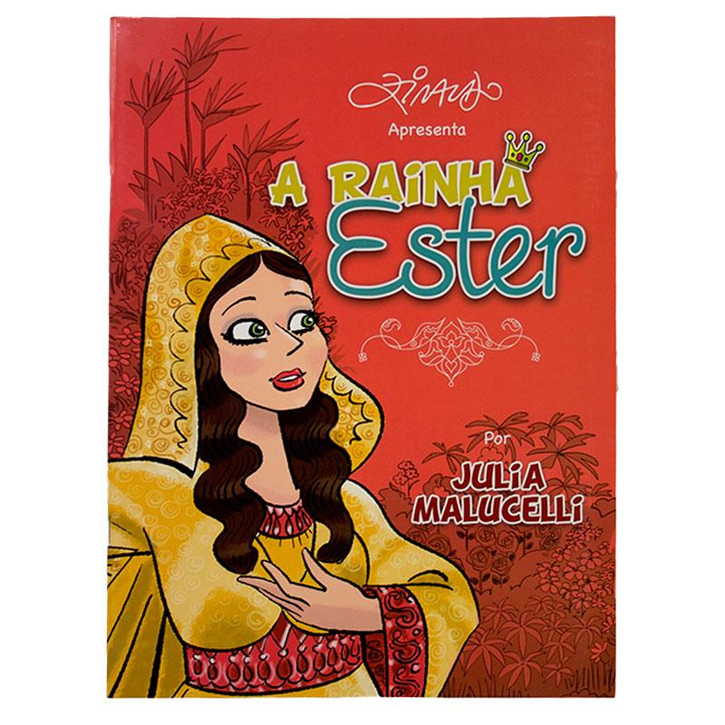 Livro: A Rainha Ester | Capa Vermelha | Julia Malucelli  - Universo Bíblico Rs