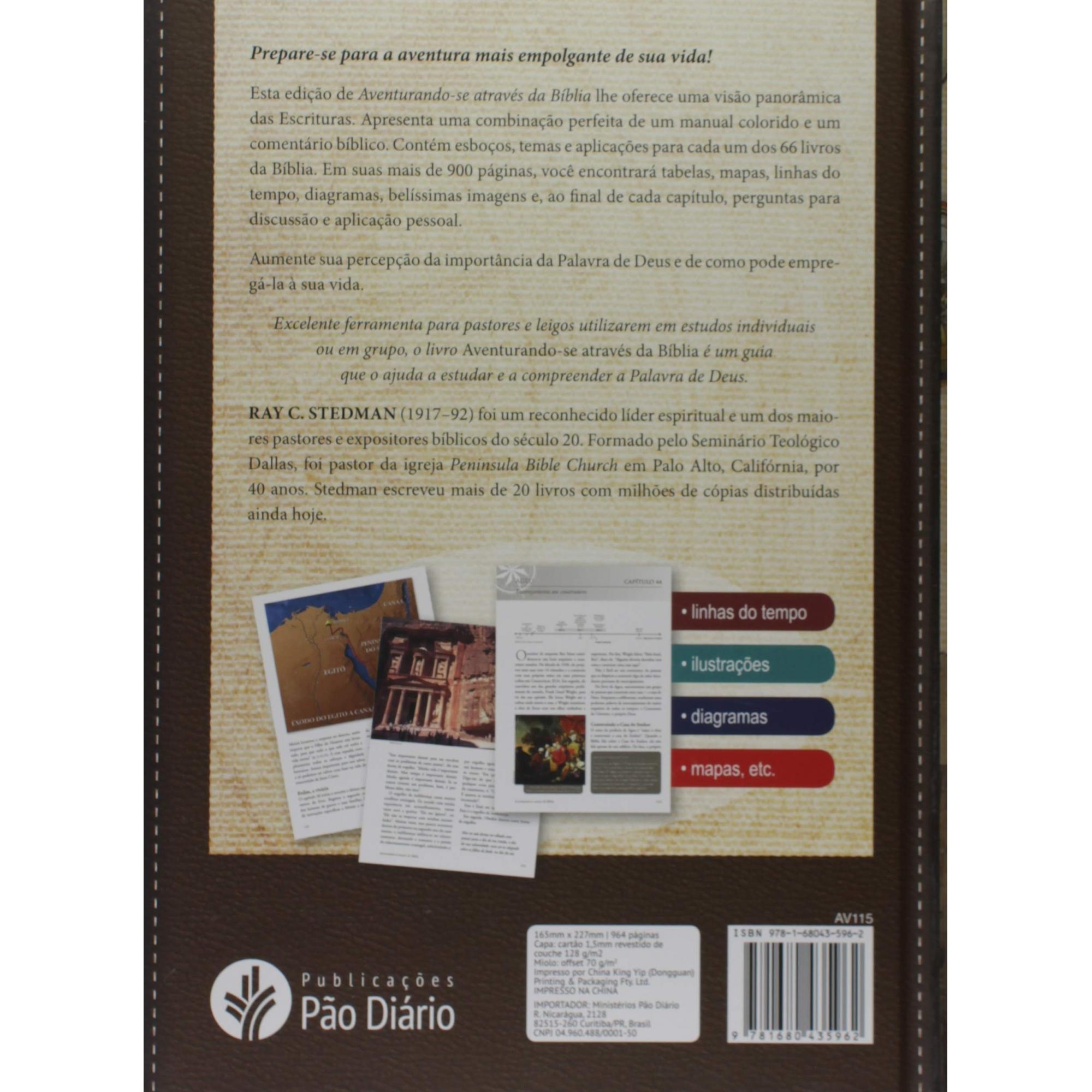 Manual Bíblico Ilustrado - Aventurando-se através da Bíblia: de Gênesis a Apocalipse  - Universo Bíblico Rs