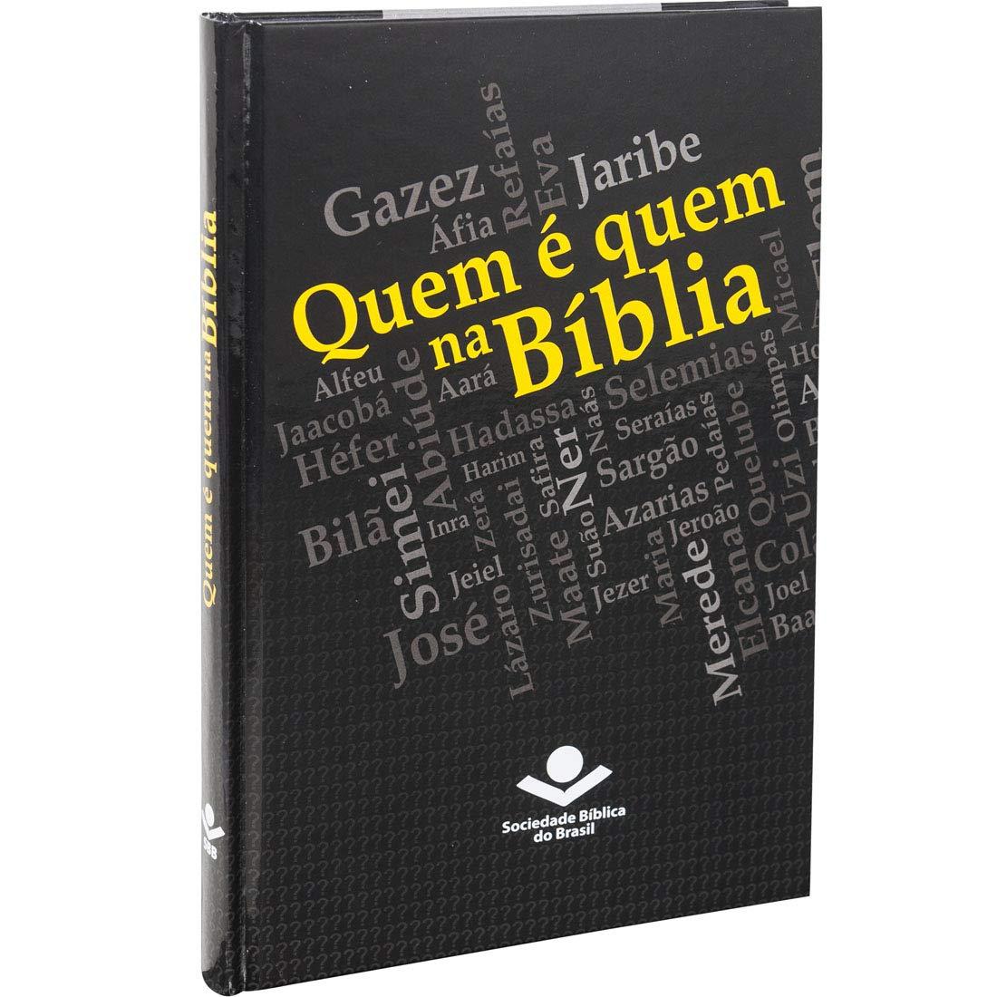 Quem é quem na Bíblia: Almeida Revista e Ampliada (ARA) - Edição Acadêmica  - Universo Bíblico Rs