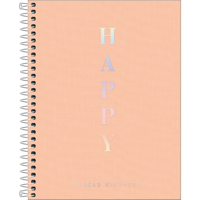 Caderno Colegial Tilibra Happy Coral 1 Matéria