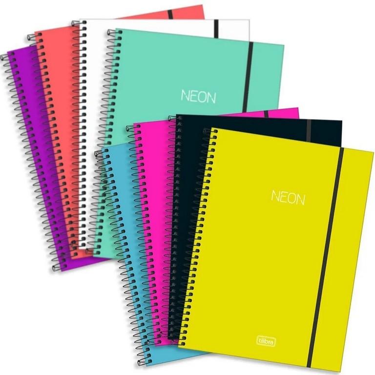 Caderno Universitário Tilibra Neon 1 Matéria