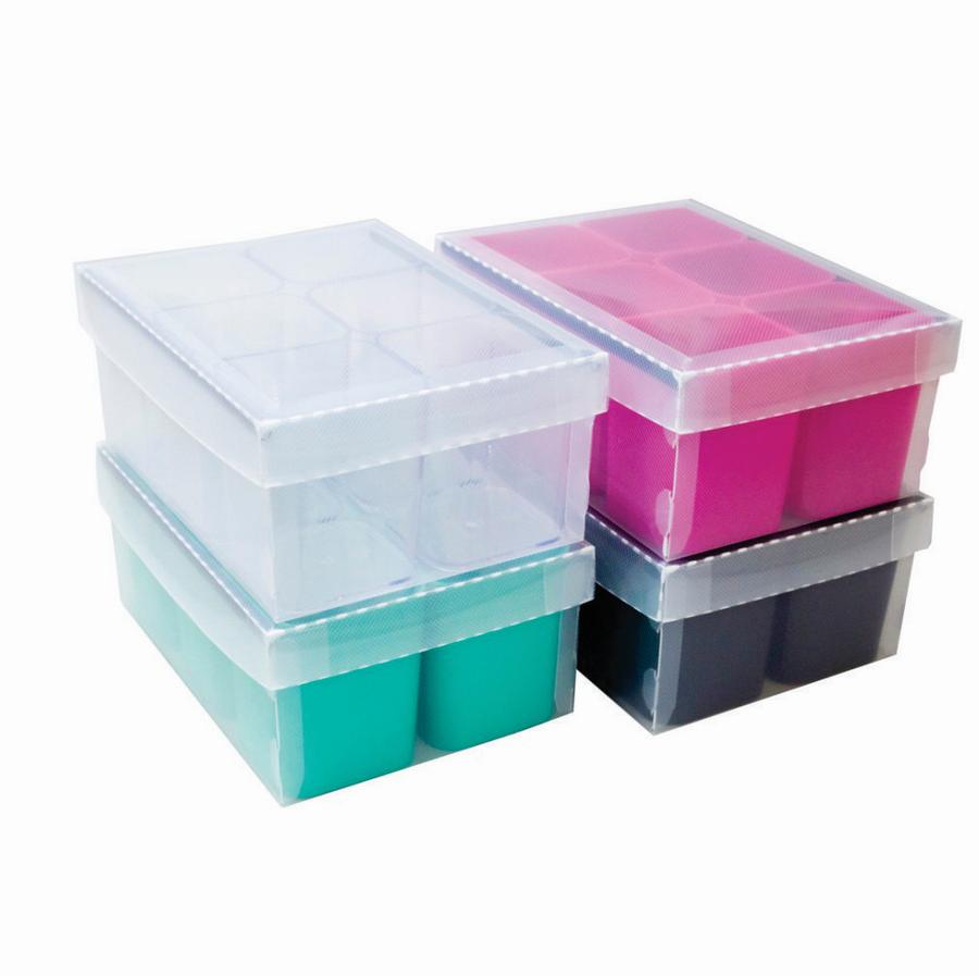 Caixa Organizadora de Objetos com 6 Potes