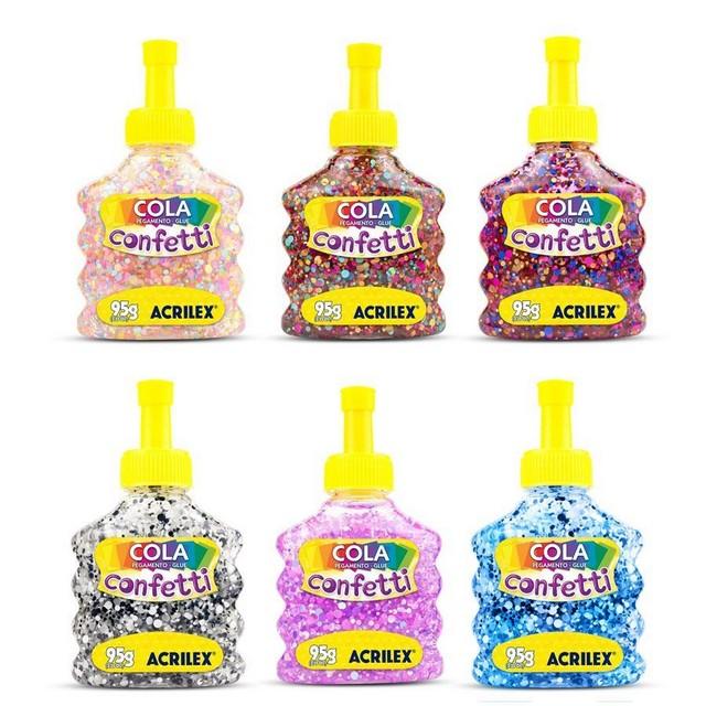 Cola Confetti Acrilex 95g