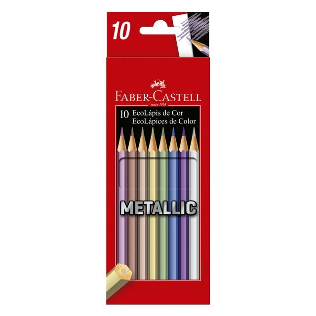 Lápis de Cor Metallic 10 Cores