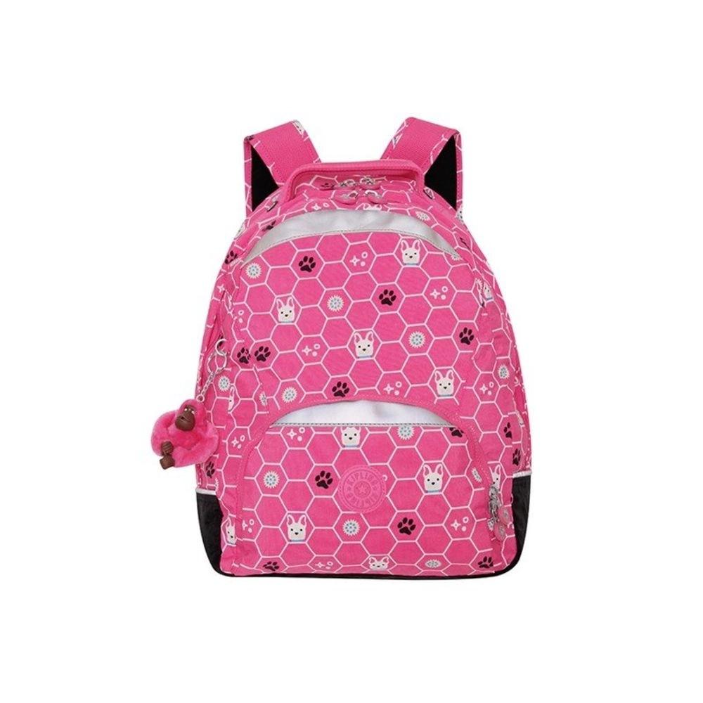 Mochila Kipling Stelba Pink Dog Tile