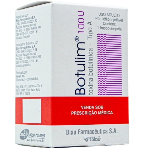 Botulim 100U Toxina Botulínica Tipo A