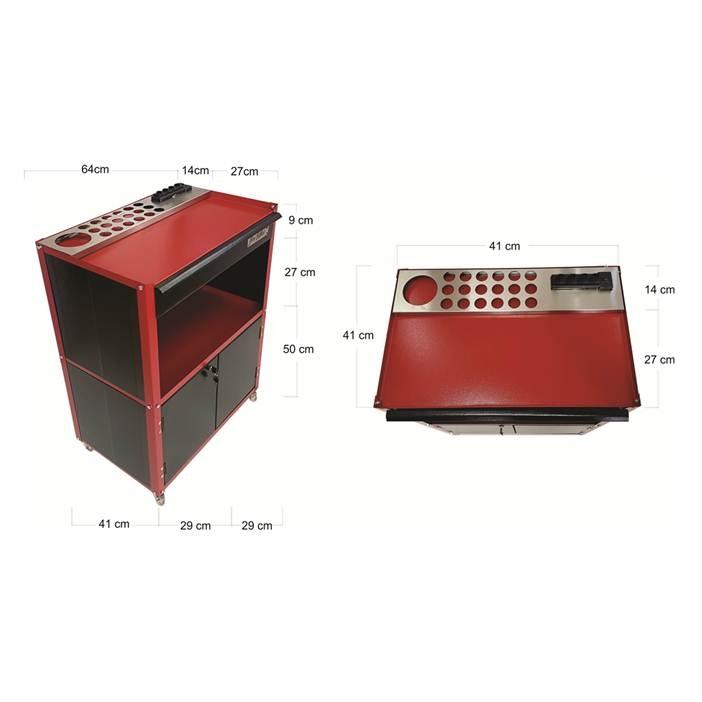 Bancada Profissional Flip One - Black/Red
