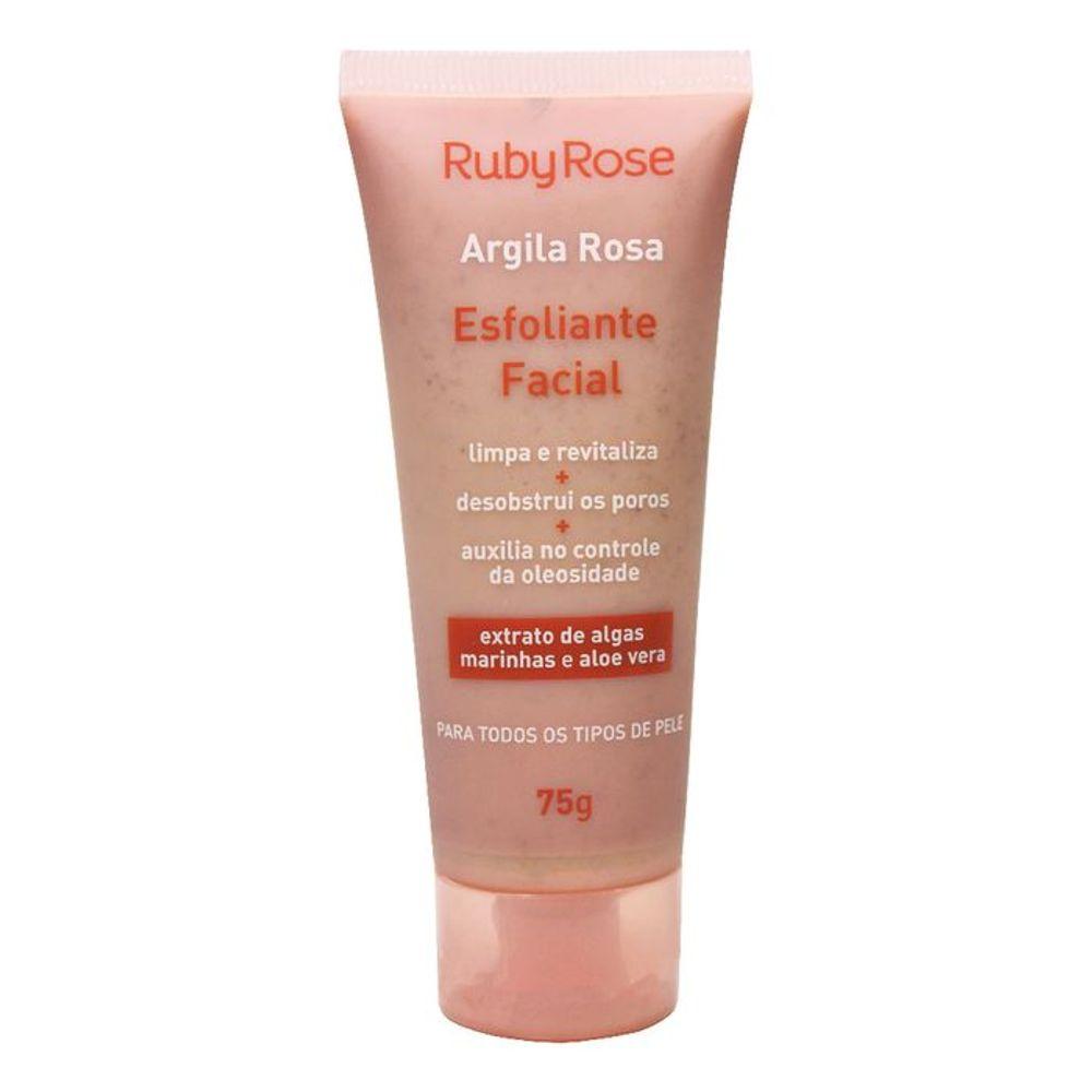 Esfoliante Facial Argila Rosa Ruby Rose