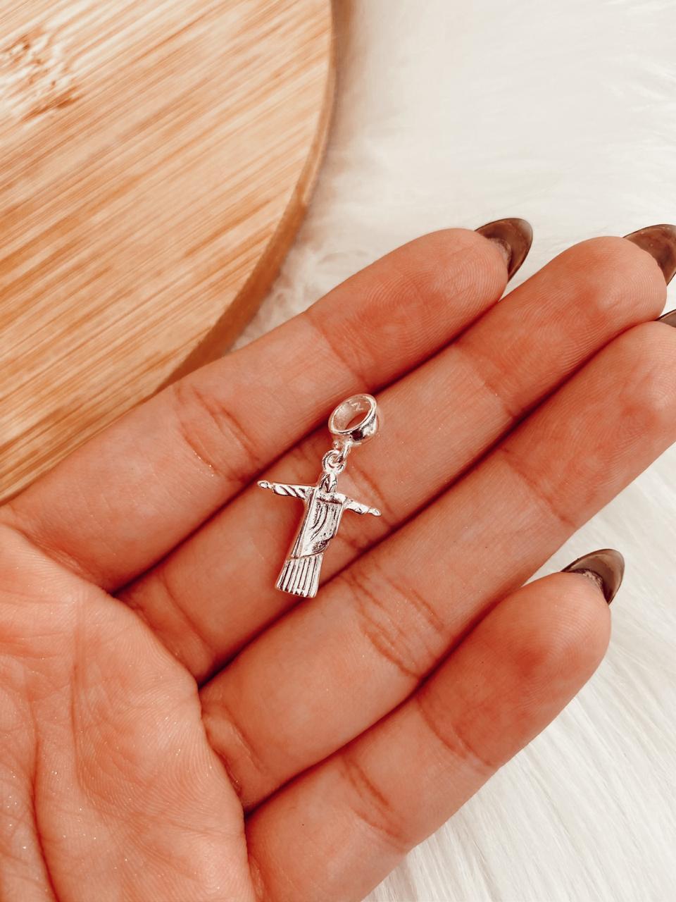 Berloque de Prata Cristo Redentor