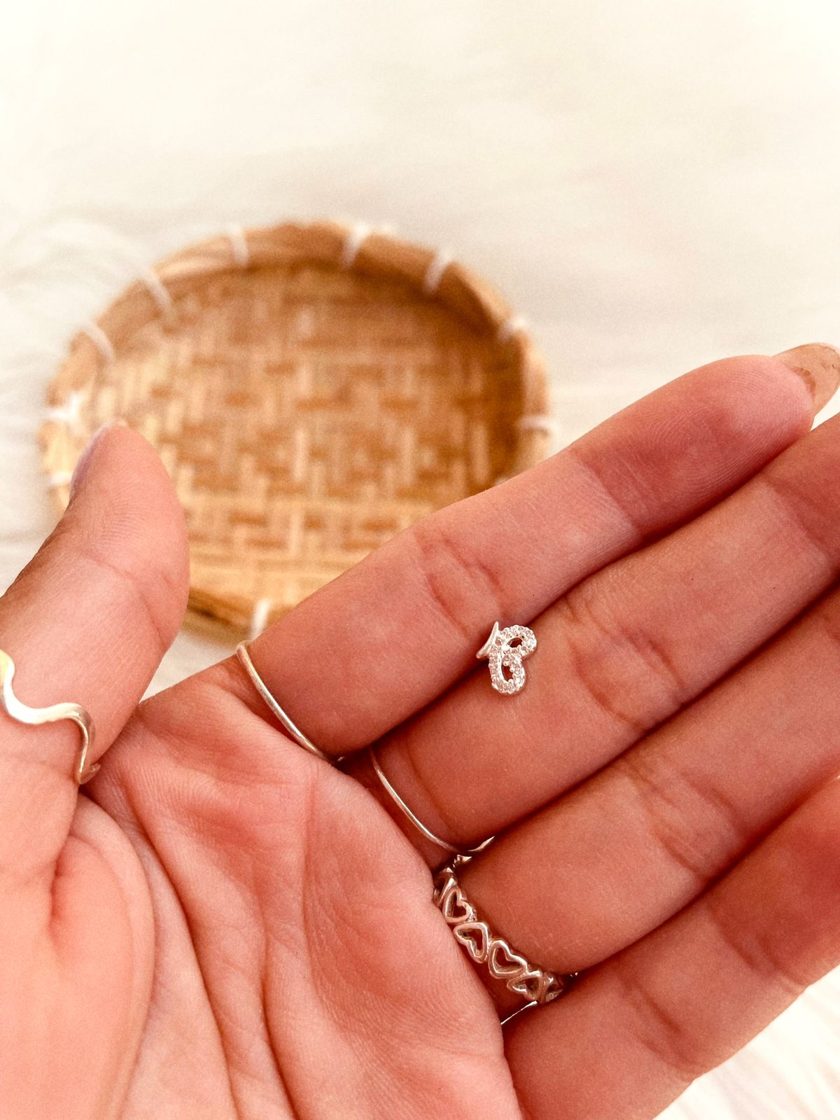 Piercing de Prata Mini Asa Borboleta