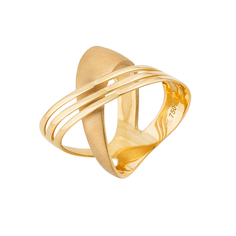 Anel de Ouro Amarelo 18K Cartier Fosco e Polido