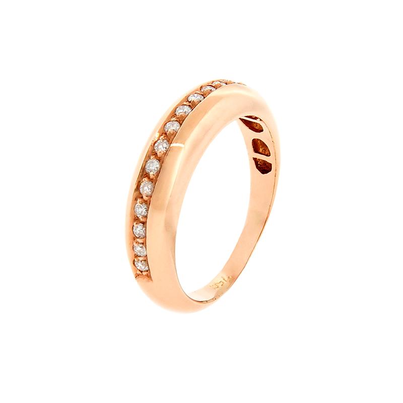 Anel de Ouro Rosê 18K de Diamantes