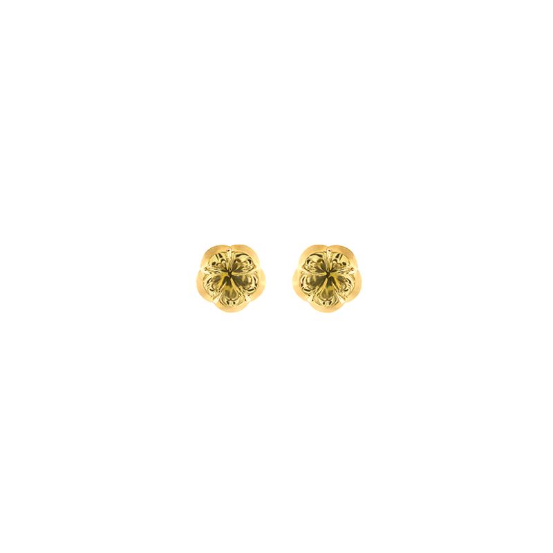 Brinco de Ouro Amarelo 18k com Pedra Greengold