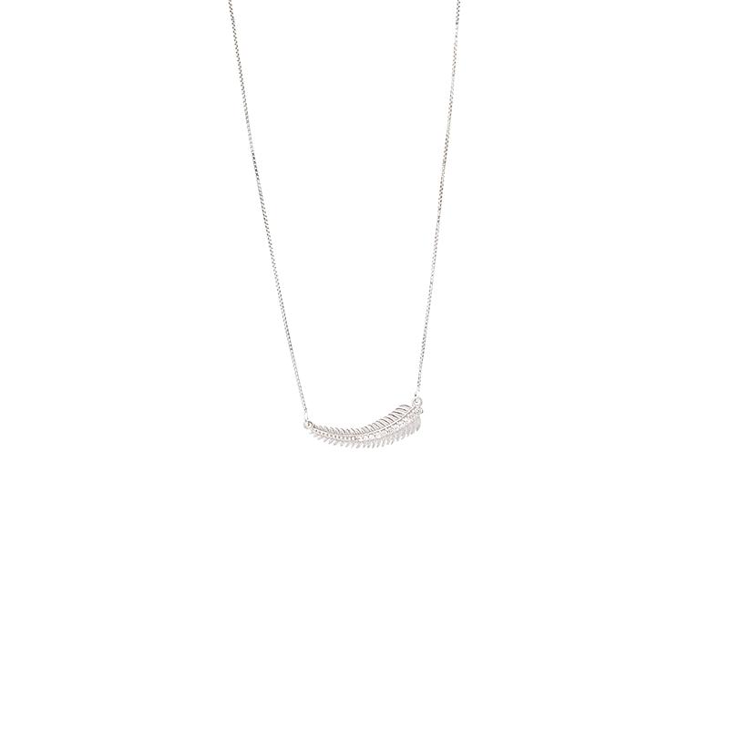 Gargantilha Ouro Branco 18K Veneziana Pena com Diamantes