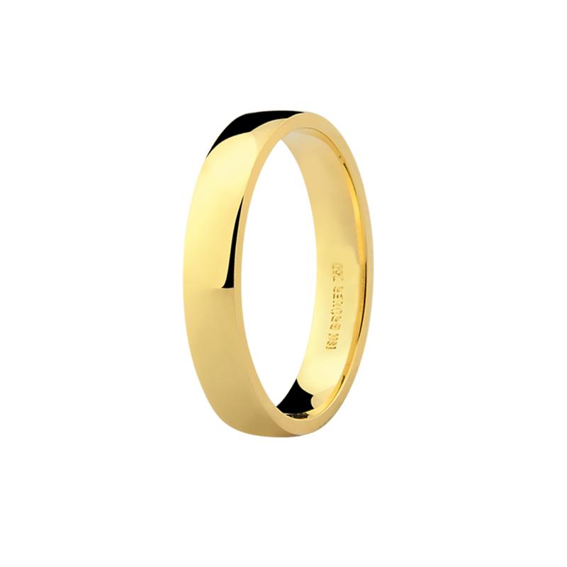 Par de Alianças de Casamento Anatômicas Ouro 18K