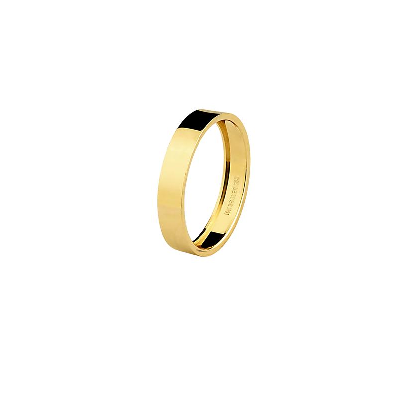 Par de Alianças de Casamento em Ouro Amarelo 18K  Anatômicas e Lisas