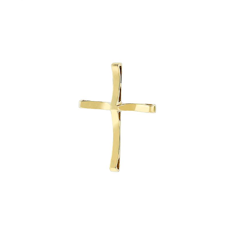 Pingente de Ouro Amarelo 18k Cruz Lisa
