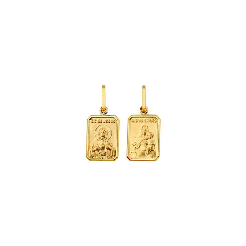 Pingente de Ouro Amarelo 18K Escapulário