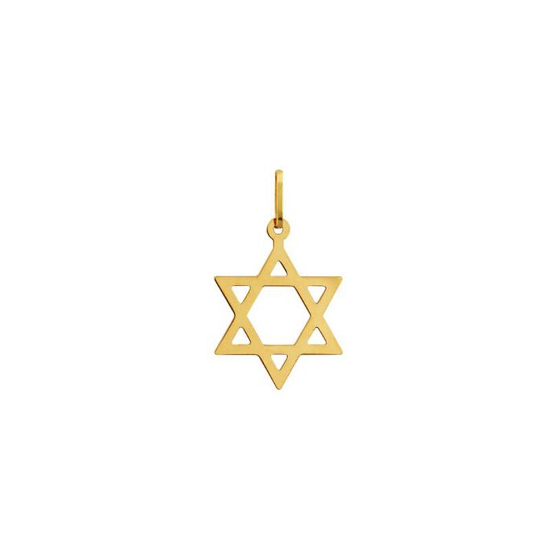 Pingente de Ouro Amarelo 18K Estrela de Davi Vazada