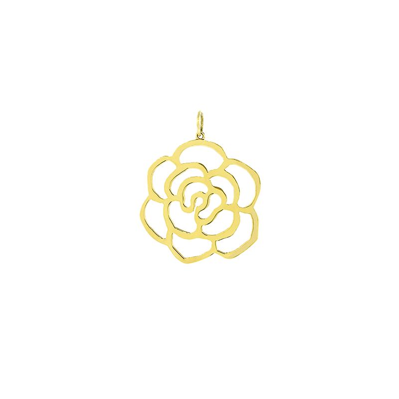 Pingente de Ouro Amarelo 18k Flor Vazada