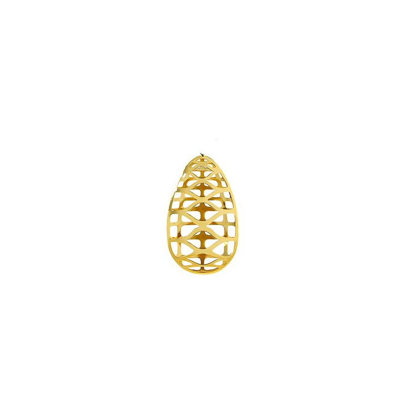 Pingente de Ouro Amarelo 18K Gota Vazada