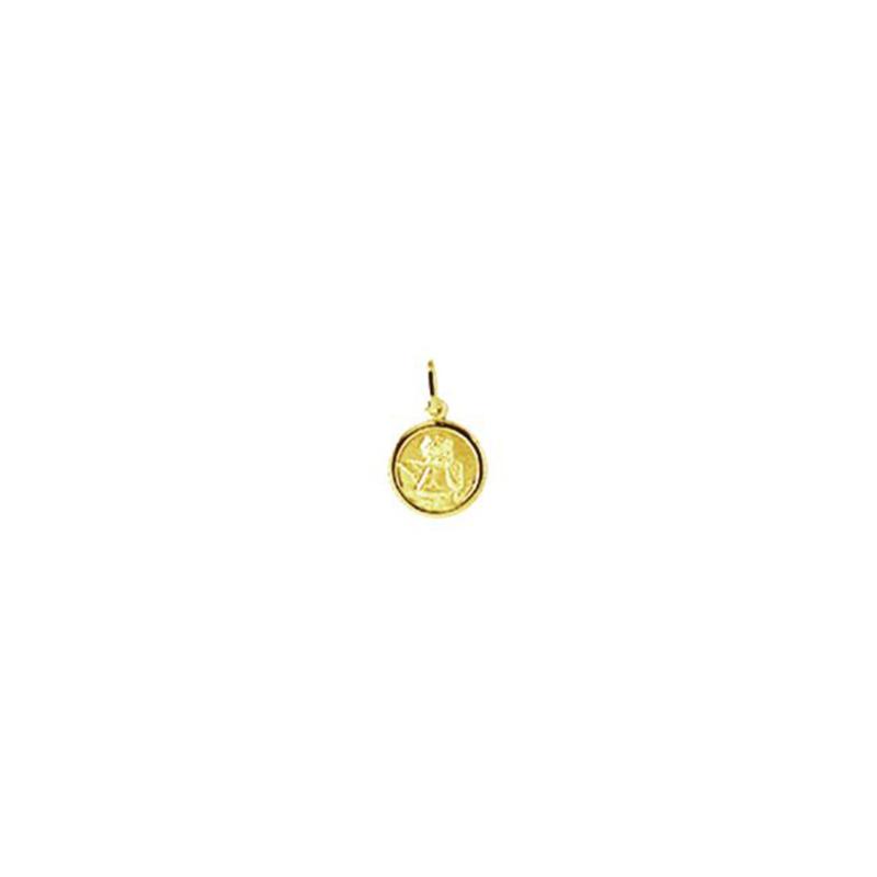 Pingente de Ouro Amarelo 18K Medalha Anjo da Guarda