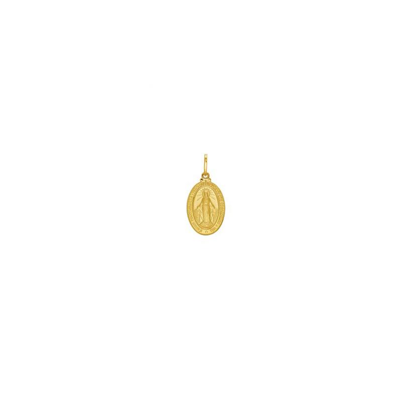 Pingente de Ouro Amarelo 18K Medalha de N.Sra Aparecida Média