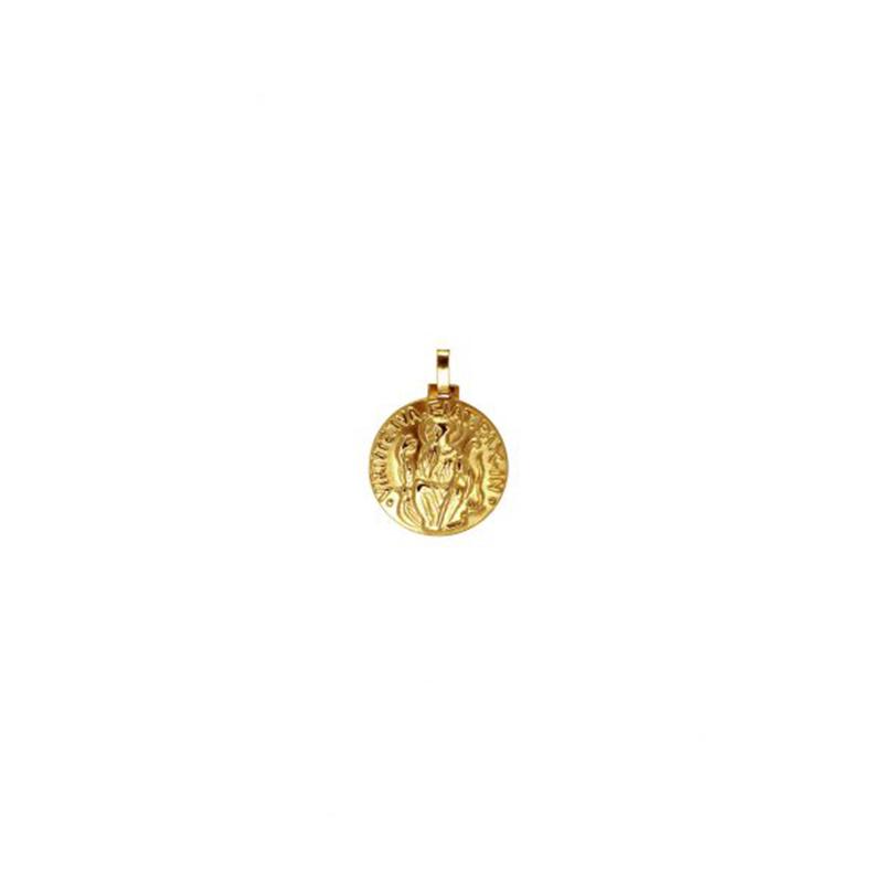 Pingente de Ouro Amarelo 18K Medalha de São Bento Média