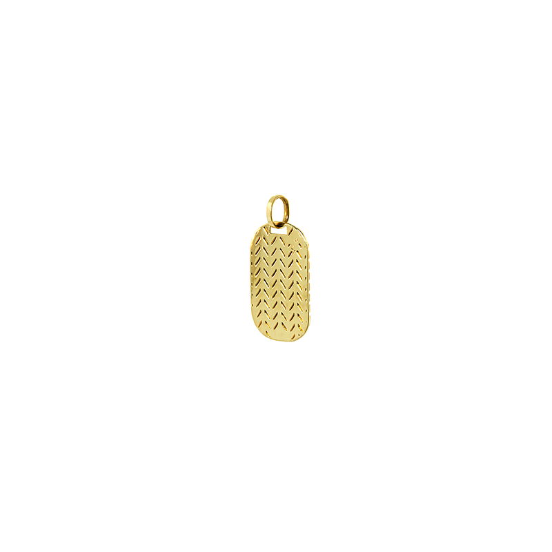 Pingente de Ouro Amarelo 18K Placa Estampada