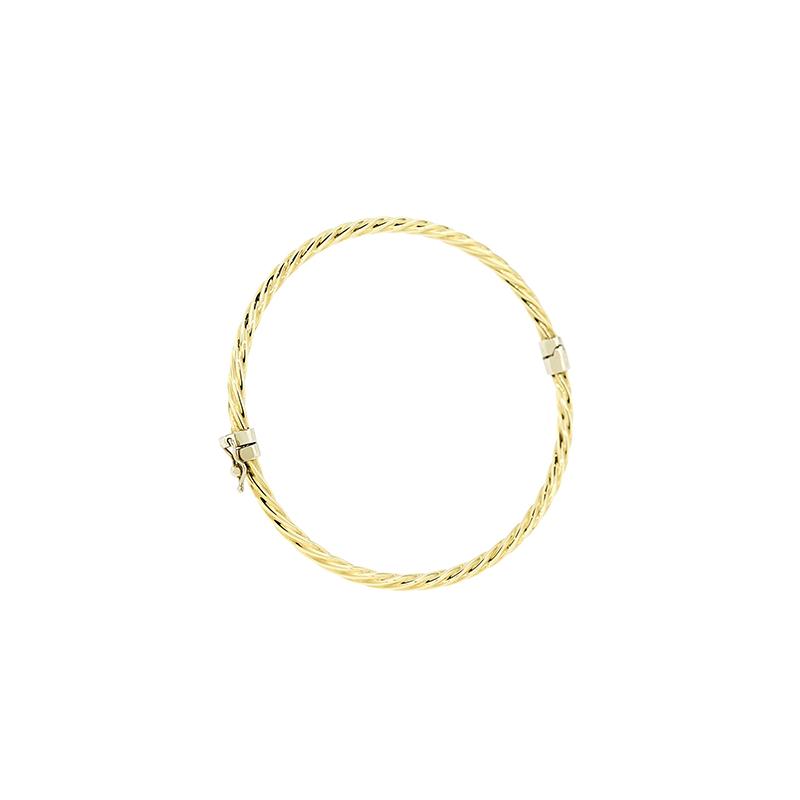 Pulseira Bracelete de Ouro Amarelo 18k
