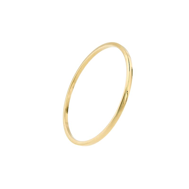 Pulseira Bracelete de Ouro Amarelo 18k Polida